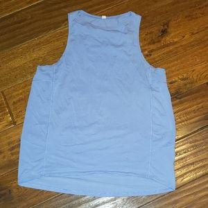 Lululemon high low tank size 10 baby blue